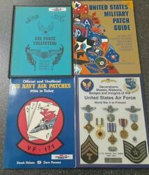 Army Air Force Usaf Medals Ribbons Badges Military Patch Navy Guide Book Lot 4