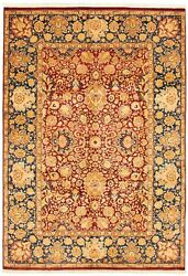 Hand-knotted Carpet 6and0391 X 8and0397 Traditional Vintage Wool Rug...discounted