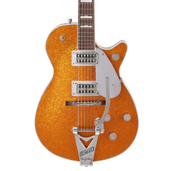 Gretsch G6129t-89vs Vintage Select Andlsquo89 Sparkle Jet With Bigsby - Gold Sparkle