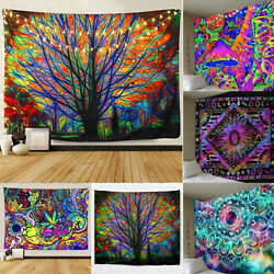 Indian Mandala Tapestry Wall Hanging Bedspreads Throw Cover Boho Blankets Decor