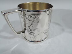 Mug - 20941b - Antique Christening Baby Cup - American Sterling Silver