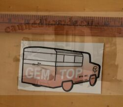 Gem Top Clackamas Or Vintage Travel Trailer Repro Decal 5 2red White And Black