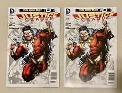 Justice League 0 1st 7 Deadly Sins Shazam Newsstand Variant New 52 Two Copies
