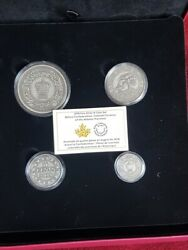 2018 Canada Pure Silver 4-coin Set - Colonial Currency Of The Atlantic Provinces