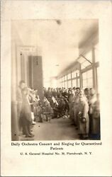 Real Photo Orchestra Singing For Quarantined Patients Plattsburgh Ny Rppc Rp C63