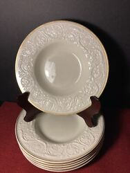 Set Of 5 Dinner Plate Patrician Old, 1927 - 1986 By Wedgwood Made In England