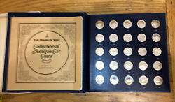 1968 Franklin Mint 25 Coins Sterling Silver Proof Set Series 1 Antique Cars