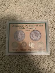 American Nickels Of The 20th Century 4-coin Set In Original Packaging With Coa