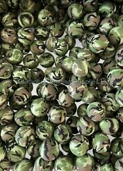 50pcs 15mm Camouflage Round Silicone Bead - Baby Teething - Diy Jewelry Bpa Free