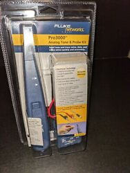 Fluke Networks Pro3000 Analog Probe And Toner With Pouch New In Box