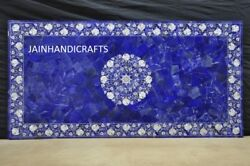 3and039x2and039 Marble Table Top Corner Dining Coffee Mosaic Blue Random Inlay Malachite