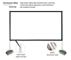 100inch 169 Projector Screen With Stand For Indoor Outdoor Home Theater Office