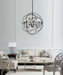 Foucaultand039s Orb Clear Crystal Cage Large Xl Restoration Hardware Style 35 High