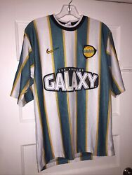 Rare Vintage Nike La Galaxy Soccer Jersey Knit Usa Small 97/98 Great Condition
