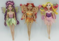 Lot Of 3 Barbie Fairytopia Dolls With Outfits And Wings Magic Of The Rainbow