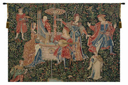 Medieval Concert Belgian Woven Medieval Musical Festival Tapestry Wall Hanging