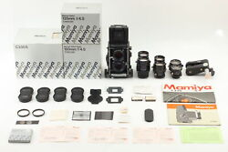 Rare [almost Unused In Box] Mamiya C330 Pro S Sekor 4 Lens Set From Japan