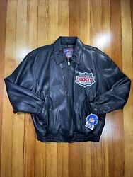 2000 Super Bowl Rams Vs Tennessee Titans Carl Banks G Iii Leather Jacket Mens Xl