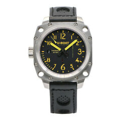 U-boat Italo Fontana Titan Black Men's Automatic With Box And Papers
