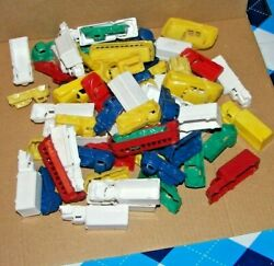 Vtg 66 Piece Assorted Mpc Plastic Cars Buses Trucks Ect. Miniature Toy Lot