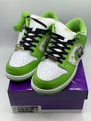 Nike Sb Dunk Low Supreme Stars Mean Green 2021 Size 10 Dh3228-101 Dead Stock New