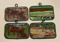 Bsa Echockotee 200 Set Of 4 Fellowhip Patches 2002 Pocket Patches With Loops