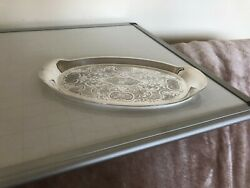 Silver Plated Chased Two Handled Little Tray Barker Ellis Tr- F16