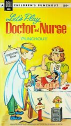 Letand039s Play Doctor And Nurse Dell Childrenand039s Punchout Book 1962 Unused