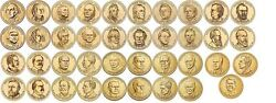 United States Presidential Dollar Set Of 39 Coins 2007-2016 Unc