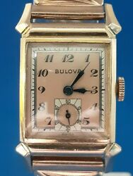 Mens Vintage Bulova Tank Watch Watch.FREE 3 DAY PRIORITY SHIPPING.