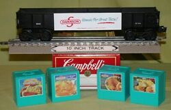 K-line 6544 Swanson's Dinners Long Gondola W/ 4 Crates For O/027 Wks Lionel 94