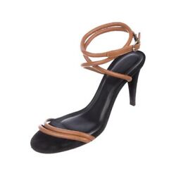 Isabel Marant Abigua Strappy Leather Sandals Brown/black Fr38us7-7.5
