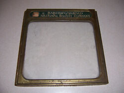 1923 Nabisco National Biscuit Company Brass And Glass Display Cover Box