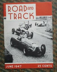 Road And Track Magazine 1 1947 Auto Racing Vtg Indy 500 46 Ford Offy Sprint Cars