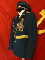 Soviet Russian Uniform Captain Of Artillery - With Trousers And Visor Cap
