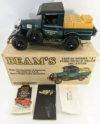 Vintage 1928-29 Model A Ford Pickup Truck Jim Beam Parkwood Supply Decanter +box