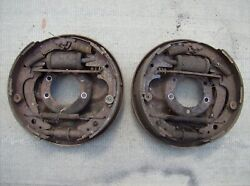 Mopar 10 X 2.5 Inch Rear Brakes Backing Plates Pair Challenger Cuda Charger