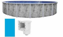 Ponderosa Above Ground Swimming Pool W/ Skimmer And Plain Blue Liner Choose Size