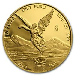 Libertad Andndash Mexico Andndash 2019 1/2 Oz Proof Gold Coin In Capsule