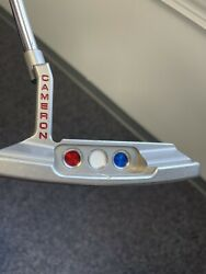 Red White And Blue Scotty Select Newport 2 35 Putter Rh With New Head Cover