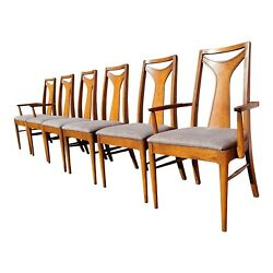 Mid-century Modern Kent Coffey Perspecta Dining Chairs - Set Of 6