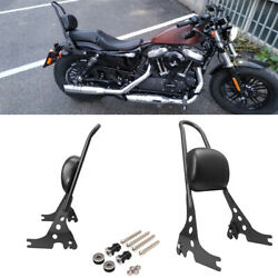 Passenger Backrest Pad Sissy Bar Cushion For Harley Iron Sportster Xl1200 883 48