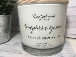 Scentsational Tangerine Guava 26oz Large 3 Wick Candle Coconut Beeswax Blend