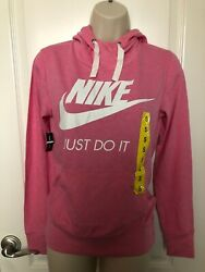 Womens Pull Over Hoodie Top Shirt By Nike