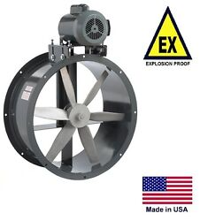 Tube Axial Duct Fan - Belt Drive - Explosion Proof - 24 - 230/460v - 7425 Cfm