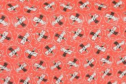 Coca Cola Large Red Bubbles Fabric 44 X 132 Brand New - Out Of Print