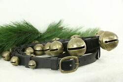 Victorian Style Sleigh Bells Set Size 1-15 On 7' Leather Harness 37655