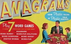 1957 Transogram Anagams Made In Usa 7 Word Games Rare Collectible Vtg Game