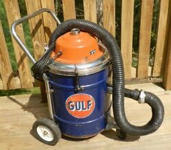 Very Rare 1960and039s Gulf Gas Station Vacuum Cleaner-still Working-great Looking