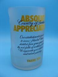 Absolut Vodka Appreciation Tip Jar Rare Yellow Version 7 1/2 Frosted Absolute